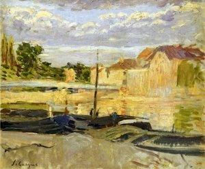 Reproduction oil paintings - Henri Lebasque - The Banks of the Marne at Lagny