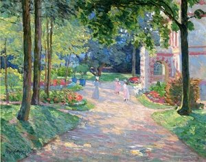 Reproduction oil paintings - Henri Lebasque - Women and Children in the Parc de Dammartin