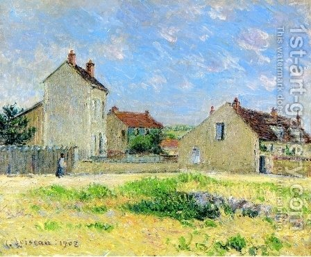 Landscape, near Auxerre by Gustave Loiseau - Reproduction Oil Painting