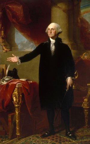 Famous paintings of Portraits: George Washington (The Landsdowne Portrait)