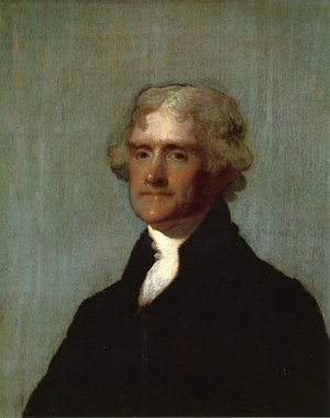 Famous paintings of Portraits: Thomas Jefferson (The Edgehill Portrait)