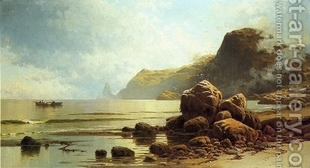 Low Tide, Southhead, Grand Manan Island by Alfred Thompson Bricher - Reproduction Oil Painting