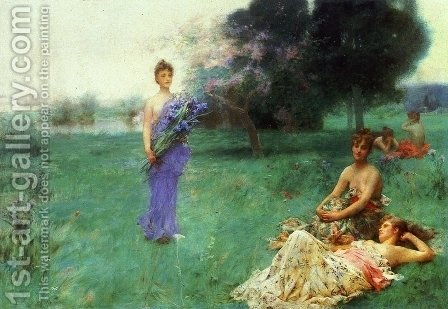 Fleur de Luce by Henry Siddons Mowbray - Reproduction Oil Painting