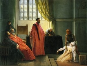 Reproduction oil paintings - Francesco Paolo Hayez - Valenza Gradenigo before the Inquisitor