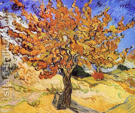 Vincent Van Gogh: Mulberry Tree - reproduction oil painting