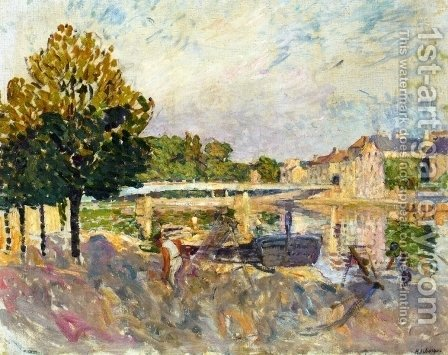 Workers on the Banks of the Marne by Henri Lebasque - Reproduction Oil Painting