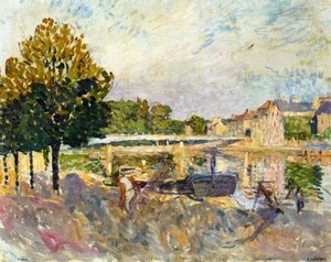 Reproduction oil paintings - Henri Lebasque - Workers on the Banks of the Marne