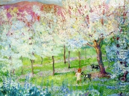 Spring Landscape by Henri Lebasque - Reproduction Oil Painting