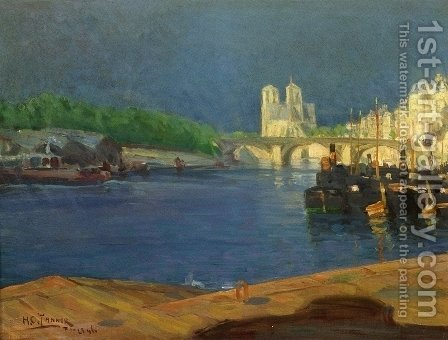 View of the Seine Looking toward Notre Dame by Henry Ossawa Tanner - Reproduction Oil Painting