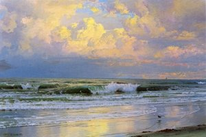 William Trost Richards reproductions - Breaking Waves I