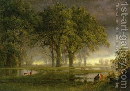 Sunglow by Albert Bierstadt - Reproduction Oil Painting