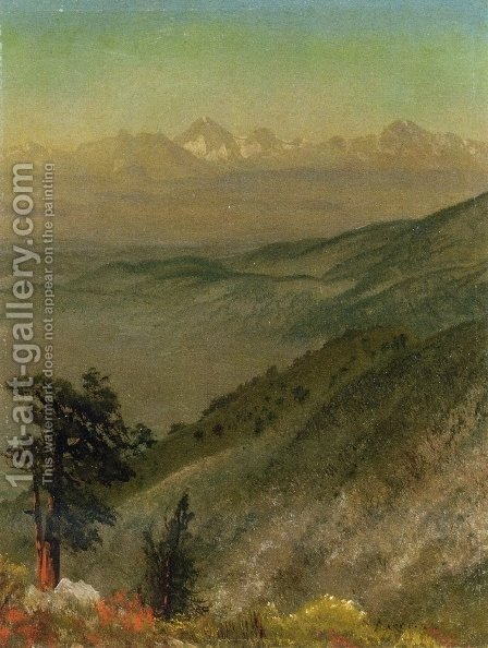 Wasatch Mountains by Albert Bierstadt - Reproduction Oil Painting