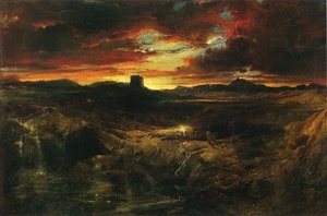 Famous paintings of Clouds & Skyscapes: Childe Roland to the Dark Tower Came