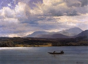 Reproduction oil paintings - Albert Bierstadt - Overlook Mountain from Olana