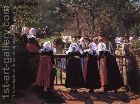 Harvest Festival by Henry Mosler - Reproduction Oil Painting
