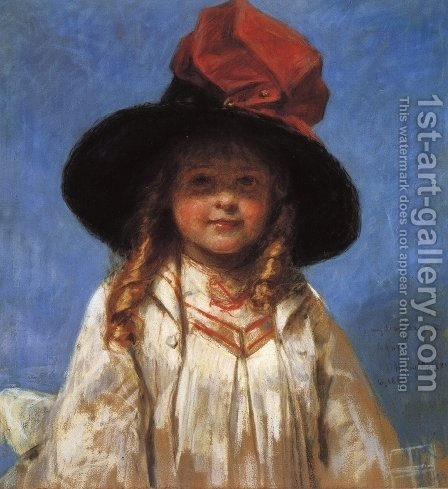 Portrait of Agnes by Henry Mosler - Reproduction Oil Painting