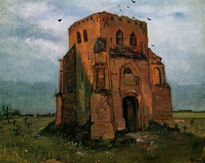 Famous paintings of Cemeteries: Country Churchyard and Old Church Tower