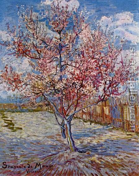 Vincent Van Gogh: Peach Trees in Blossom - reproduction oil painting