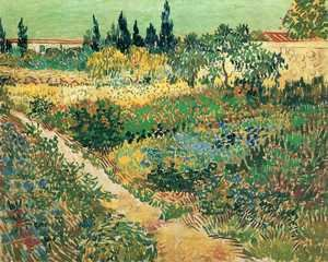 Reproduction oil paintings - Vincent Van Gogh - Garden with Flowers