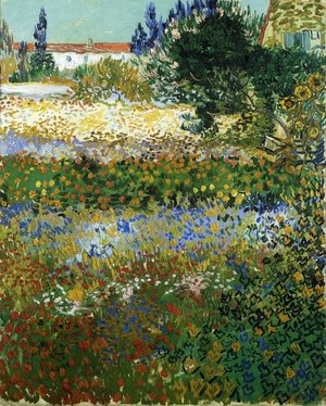 Reproduction oil paintings - Vincent Van Gogh - Garden with Flowers I