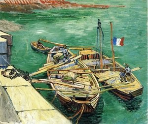 Famous paintings of Ports: Sand Barges