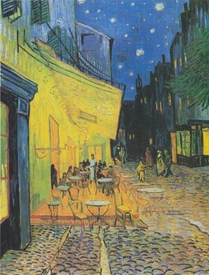 Famous paintings of Landscapes: Cafe Terrace on the Place du Forum