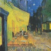 Oil painting reproductions - Architecture - Vincent Van Gogh: Cafe Terrace on the Place du Forum