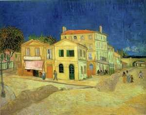 Famous paintings of Villages: The Street, the Yellow House