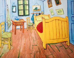 Famous paintings of Furniture: Vincent's Bedroom in Arles