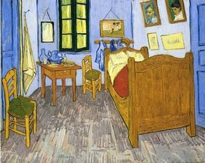 Famous paintings of Furniture: Vincent's Bedroom in Arles II