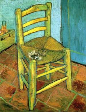 Famous paintings of Furniture: Van Gogh's Chair