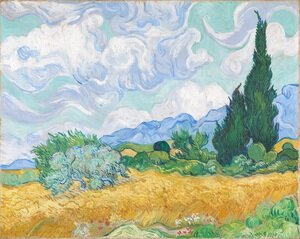 Reproduction oil paintings - Vincent Van Gogh - Wheatfield with Cypress I