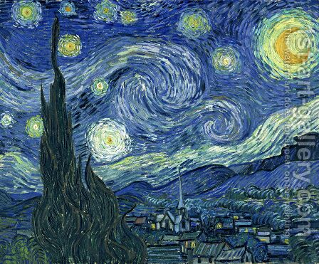 Vincent Van Gogh: The Starry Night - reproduction oil painting