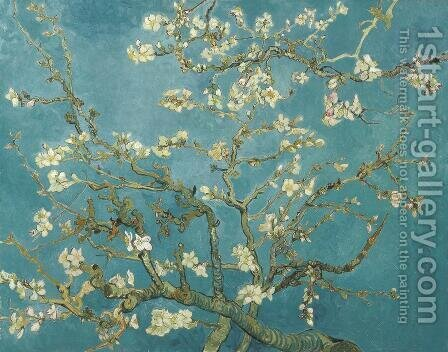 Vincent Van Gogh: Branches with Almond Blossom - reproduction oil painting