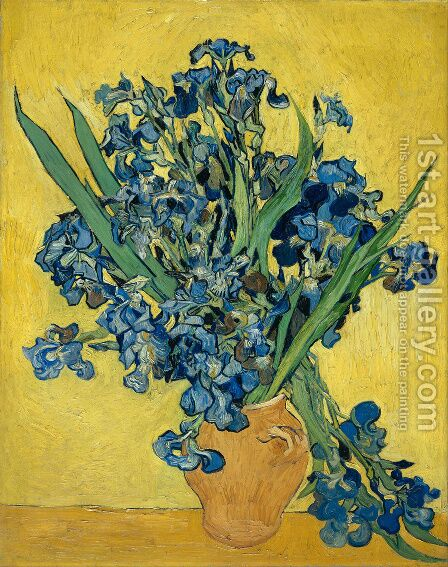 Vincent Van Gogh: Still Life with Irises - reproduction oil painting