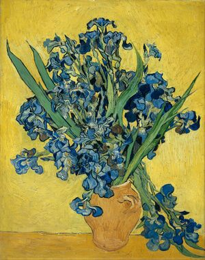 Famous paintings of Vases: Still Life with Irises