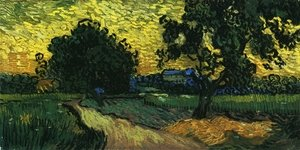Reproduction oil paintings - Vincent Van Gogh - Field with Trees, the Chateau of Auvers