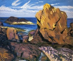 Reproduction oil paintings - John Sloan - Yellow Rock, Gloucester
