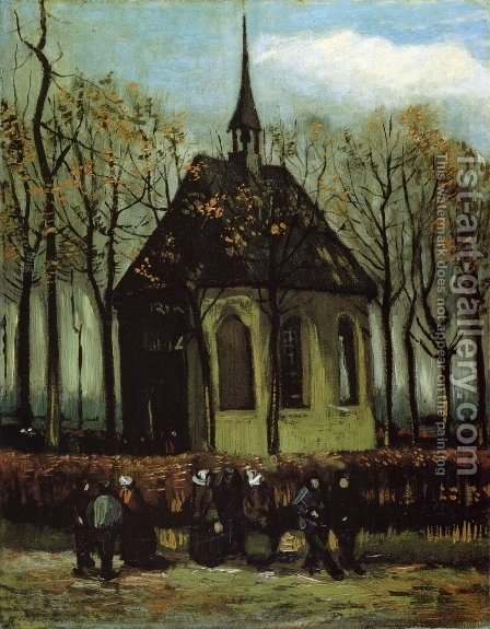 Vincent Van Gogh: Chapel at Nuenen - reproduction oil painting