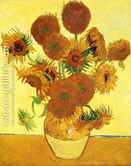 Sunflowers II by Vincent Van Gogh - Reproduction Oil Painting