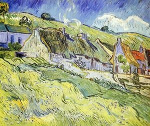 Reproduction oil paintings - Vincent Van Gogh - A Group of Cottages