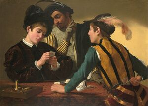 Reproduction oil paintings - Caravaggio - The Cardsharps (I Bari)
