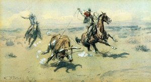 Famous paintings of Wild West: The Bolter, #2