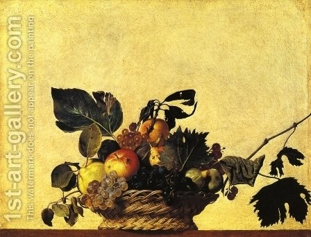 Still Life with a Basket of Fruit by Caravaggio - Reproduction Oil Painting