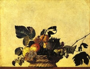 Famous paintings of Apples: Still Life with a Basket of Fruit