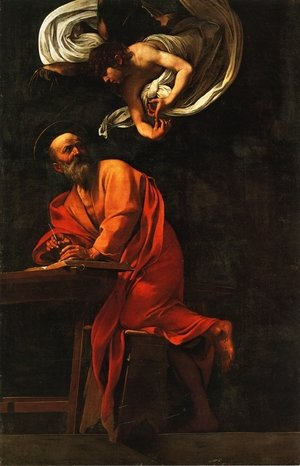 Reproduction oil paintings - Caravaggio - St. Matthew and the Angel