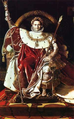 Famous paintings of Portraits: Napoleon as Jupiter Enthroned