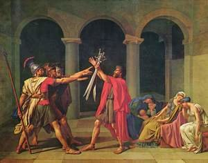 Reproduction oil paintings - Jacques Louis David - Oath of the Horatii