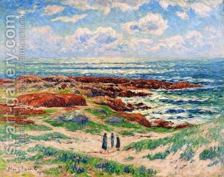 The Dunes of Tregune, Finistere by Henri Moret - Reproduction Oil Painting