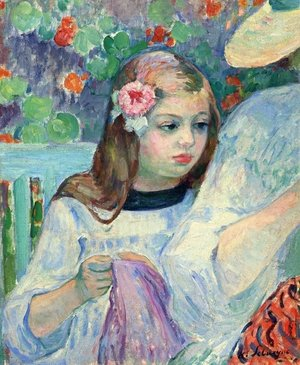 Reproduction oil paintings - Henri Lebasque - The Sewing Lesson